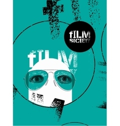 Typographic Grunge Design for Film Society vector