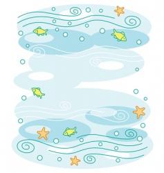 underwater world background vector image