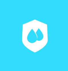 Waterproof water resistant symbol vector