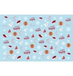 Winter Pattern new year red monkey vector image
