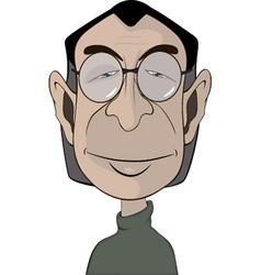 A mans in glasses portrait caricature vector