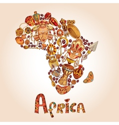 Africa sketch concept vector image