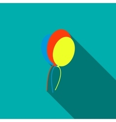 Balloons icon flat style vector image