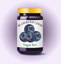 blueberry jam blueberry confiture isolated jam vector image vector image