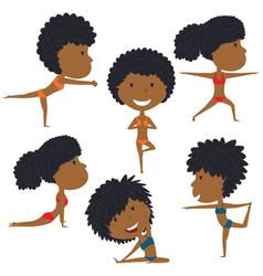 female yoga set vector image vector image