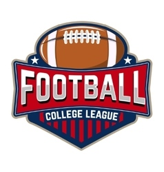 Football college league Emblem template with vector image vector image