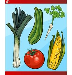 vegetables set cartoon vector image vector image