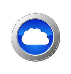 cloud computing button vector image vector image