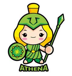 Goddess of war athena character olympus god vector