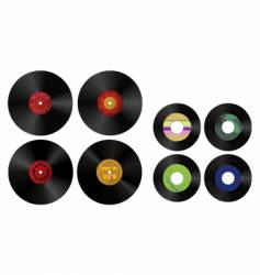 records vector image vector image