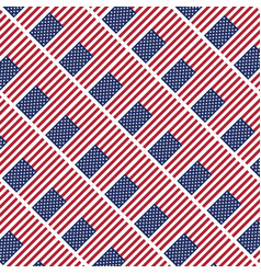 usa star flag pattern background vector image