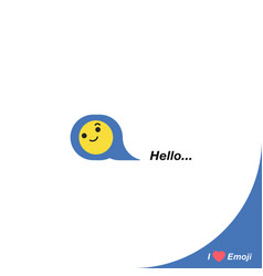 Yellow smiley icon hearts like social icon vector