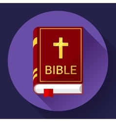bible icon with long shadow vector image vector image