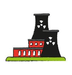 factory cartoon draw vector image