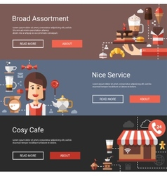 modern flat design coffee-shop vector image