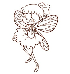 A simple sketch of a fairy vector image