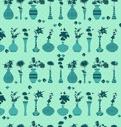 cute seamless texture with rows of variety modern vector image vector image