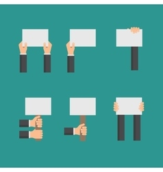 flat business concept with hands holding vector image