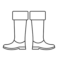 High rubber boots icon outline style vector