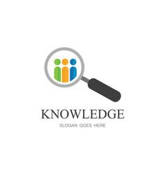 knowledge education logo vector image
