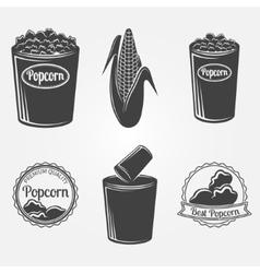 Popcorn logo or signs vector image
