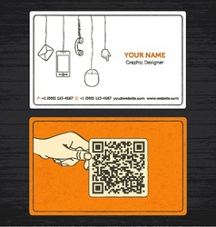 sketchy business card vector image vector image