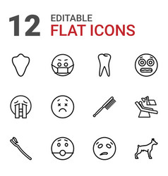 12 mouth icons vector