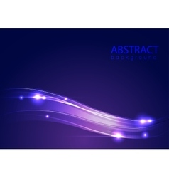 Abstract blue background with lights vector image