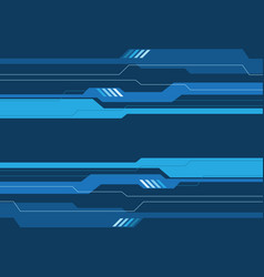 Abstract blue tone circuit futuristic design vector