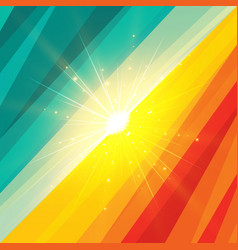 abstract shape summer holidays and summer vector image vector image