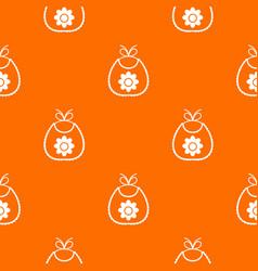 Baby bib pattern seamless vector