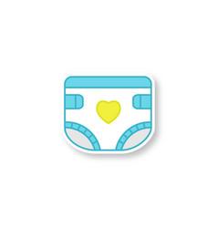 Baby diaper patch vector