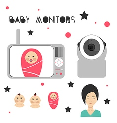 Baby monitors design element vector