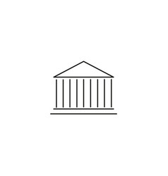 bank line icon vector image