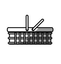 basket food picnic shadow vector image