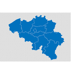 Belgium map - high detailed blue map with vector