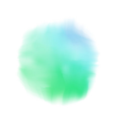 blue and green ink realistic watercolor background vector image