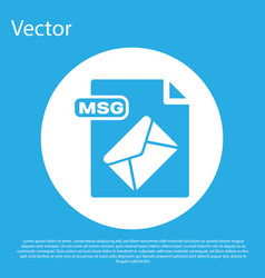 Blue msg file document download msg button icon vector