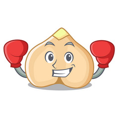 Boxing chickpeas character cartoon style vector