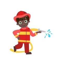 Boy Future Fireman vector