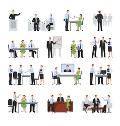Business Conference Icons Set vector