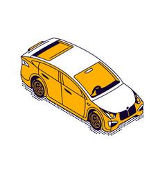car sedan isometric isolated vector image