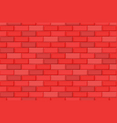 Cartoon hand drown red realistic seamless brick vector