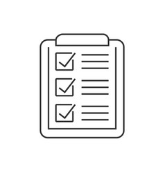 checklist on clipboard vector image