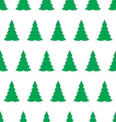 christmas tree seamless pattern2 vector image