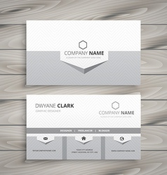 clean gray business card vector image