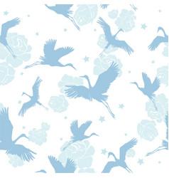 crane birds vector image