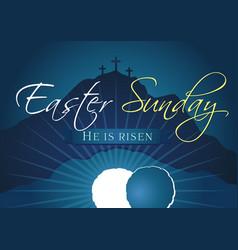 Easter sunday holy week navy blue banner vector