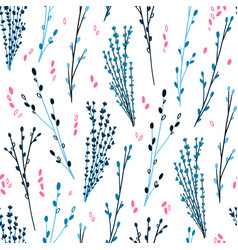 elegant twigs natural cosmetic pattern-02 vector image