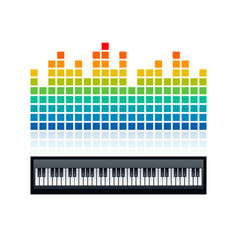 equalizer and piano keyboard vector image